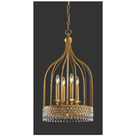 Metropolitan N7654-705 Kingsmont 4 Light 15 inch Glitz Gold Leaf Pendant Ceiling Light