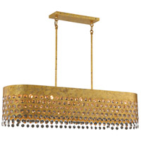 Metropolitan N7655-705 Kingsmont 10 Light 42 inch Glitz Gold Leaf Island Light Ceiling Light