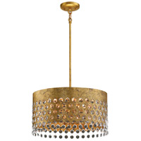 Metropolitan N7656-705 Kingsmont 6 Light 18 inch Glitz Gold Leaf Pendant Ceiling Light