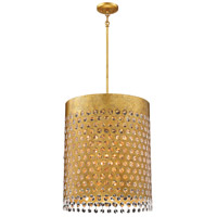 Metropolitan N7657-705 Kingsmont 6 Light 15 inch Glitz Gold Leaf Pendant Ceiling Light