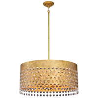 Metropolitan N7658-705 Kingsmont 8 Light 24 inch Glitz Gold Leaf Pendant Ceiling Light