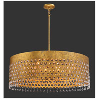 Metropolitan N7659-705 Kingsmont 10 Light 32 inch Glitz Gold Leaf Pendant Ceiling Light