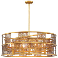 Metropolitan N7748-702 Brynhurst 8 Light 32 inch Autumn Gold Leaf Drum Pendant Ceiling Light