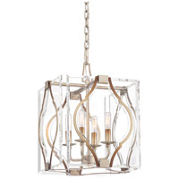 Metropolitan N7763-683 Brenton Cove 4 Light 14 inch Gold Mist Gold Leaf Pendant Ceiling Light