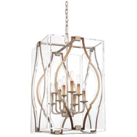 Metropolitan N7768-683 Brenton Cove 8 Light 18 inch Gold Mist Gold Leaf Pendant Ceiling Light