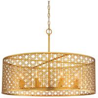 Metropolitan N7789-248 Blairmoor 8 Light 30 inch Honey Gold Pendant Ceiling Light