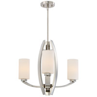 Glimrende 3 Light 23 inch Polished Nickel Chandelier Ceiling Light