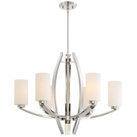 Glimrende 6 Light 29 inch Polished Nickel Chandelier Ceiling Light