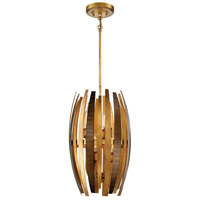 Manitou 6 Light 14 inch Ardor Gold Pendant Ceiling Light