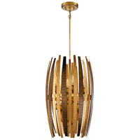 Manitou 8 Light 18 inch Ardor Gold Pendant Ceiling Light