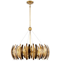 Manitou 8 Light 34 inch Ardor Gold Chandelier Ceiling Light