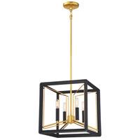 Metropolitan N7854-707 Sable Point 4 Light 14 inch Sand Black/Honey Gold Pendant Ceiling Light