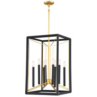 Metropolitan N7858-707 Sable Point 8 Light Sand Black With Honey Gold Accents Pendant Ceiling Light