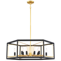 Metropolitan N7859-707 Sable Point 12 Light 32 inch Sand Black/Honey Gold Pendant Ceiling Light