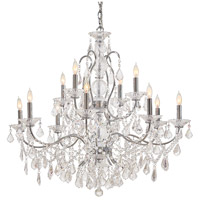 Signature 12 Light 35 inch Chrome Chandelier Ceiling Light