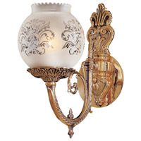 Signature 1 Light 6 inch Antique Classic Brass Wall Sconce Wall Light