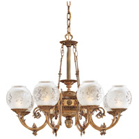 Signature 8 Light 33 inch Antique Classic Brass Chandelier Ceiling Light