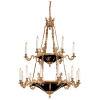 Signature 18 Light 34 inch Dore Gold w/ Black Accents Chandelier Ceiling Light