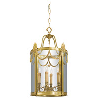 Signature 4 Light 15 inch Dore Gold Foyer Pendant Ceiling Light