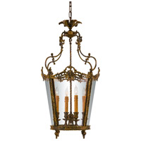 Signature 4 Light 19 inch Oxide Brass Foyer Pendant Ceiling Light