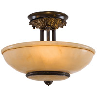 Signature 3 Light 16 inch Antique Oxidized Bronze Semi Flush Mount Ceiling Light