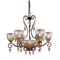 Vintage 7 Light 32 inch Sienna Bronze Chandelier Ceiling Light