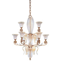 Metropolitan Vintage 9 Light Chandelier in Impeccable Gold Leaf N9023 photo thumbnail