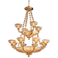 Metropolitan Vintage  24 Light Chandelier in French Gold Leaf N9029 photo thumbnail