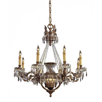 Metropolitan Vintage 12 Light Chandelier in Dark Flemish Brass N9035