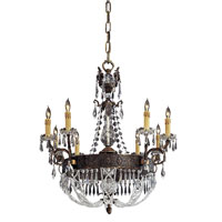 Metropolitan Vintage  8 Light Chandelier in Dark Flemish Brass N9036