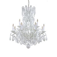 Metropolitan Vintage 12 Light Chandelier in White N9048-WH photo thumbnail
