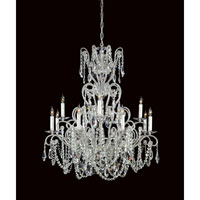 Metropolitan Vintage  12 Light Chandelier in Silver Painted N9048