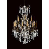 Metropolitan Vintage 24 Light Chandelier in French Gold with Patina N9049