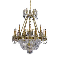 Metropolitan Vintage 21 Light Chandelier in French Gold with Patina N9063