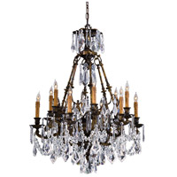 Signature 12 Light 36 inch Oxide Brass Chandelier Ceiling Light