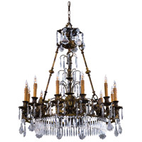 Signature 12 Light 34 inch Oxide Brass Chandelier Ceiling Light
