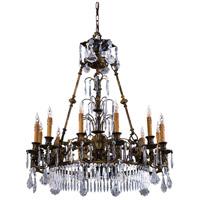 Metropolitan N9067 Vintage 12 Light 34 inch Oxide Brass Chandelier Ceiling Light