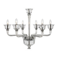 Tabarca 6 Light 29 inch Chrome Chandelier Ceiling Light