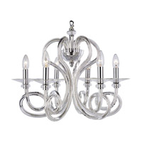Family 6 Light 22 inch Chrome Chandelier Ceiling Light