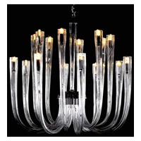 Signature 12 Light 24 inch Chrome Chandelier Ceiling Light