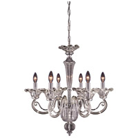 Estoril 6 Light 26 inch Chrome Chandelier Ceiling Light