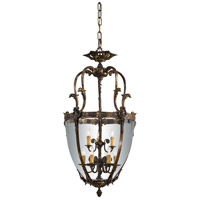 Signature 9 Light 24 inch Oxide Brass Pendant Ceiling Light