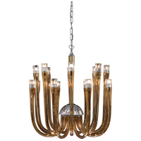 Berna 16 Light 21 inch Topaz Glass Chandelier Ceiling Light