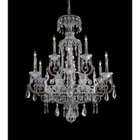 Crystal 9 Light 34 inch Steel Chandelier Ceiling Light