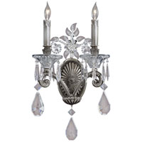 Crystal 2 Light 10 inch Steel Sconce Wall Light