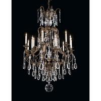 Metropolitan N950115 Vintage 12 Light 38 inch Oxide Brass Chandelier Ceiling Light