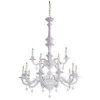 Metropolitan Signature 15 Light Chandelier in Italian White Porcelain N950127 photo thumbnail