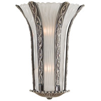 Signature 2 Light 13 inch Platinum Wall Sconce Wall Light in Brass