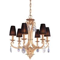 Metropolitan N950435 Vintage 6 Light 30 inch Gold Plated Chandelier Ceiling Light