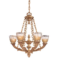 Vintage 6 Light 30 inch French Gold Chandelier Ceiling Light